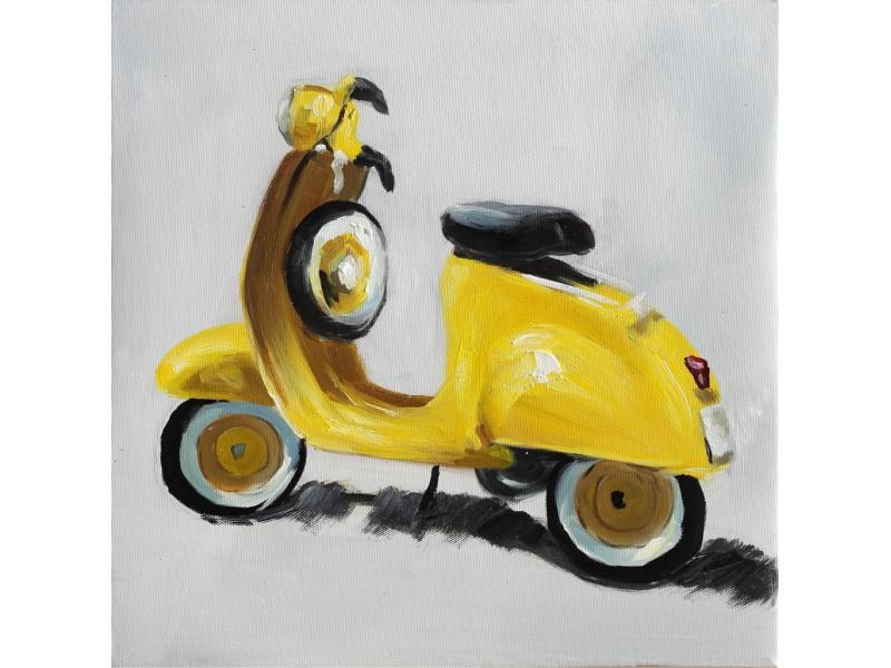"""Bubola e Naibo 30x30 """"Жёлтый мотоцикл"""""""