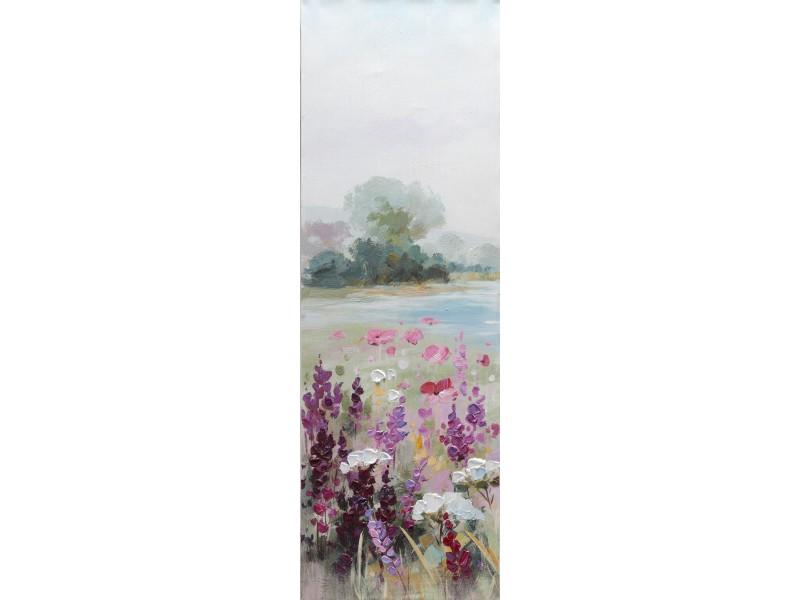 """Bubola e Naibo 30x90 """"Цветы и озеро"""""""