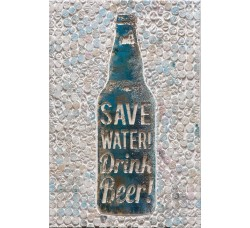 "Картина Bubola e Naibo 60x90 ""Берегите воду, пейте пиво"""