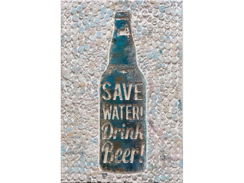 "Bubola e Naibo 60x90 ""Берегите воду, пейте пиво"""
