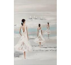 """Картина Bubola e Naibo 60x90 """"Три девушки в белом"""""""