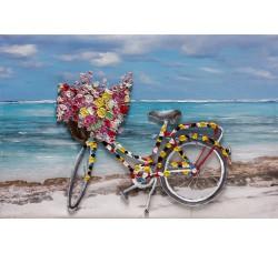 "Картина Bubola e Naibo 60x90 ""Велосипед в цветах"""
