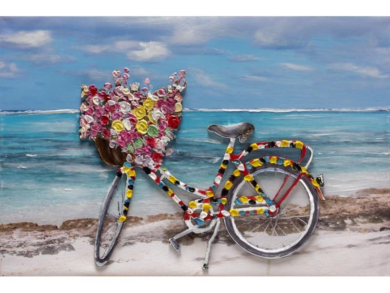 "Bubola e Naibo 60x90 ""Велосипед в цветах"""