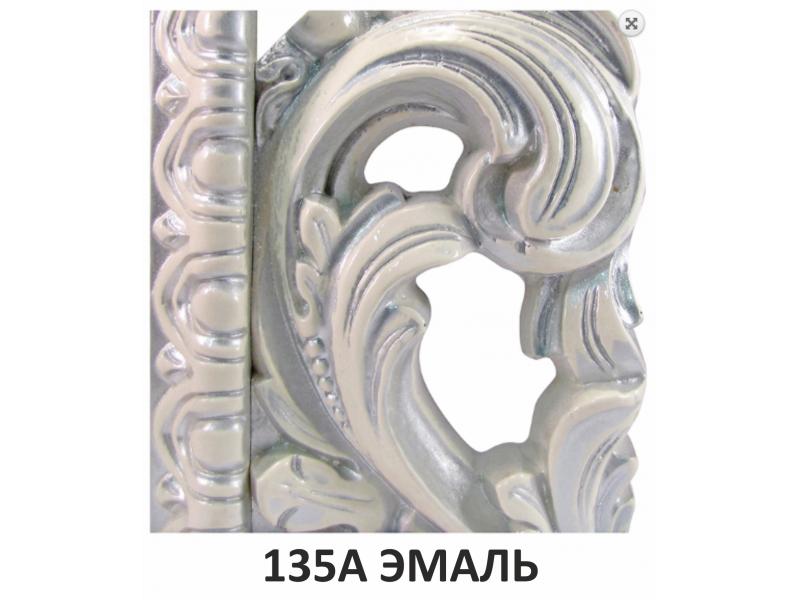 Зеркало прямоугольное в багете цвета серебро