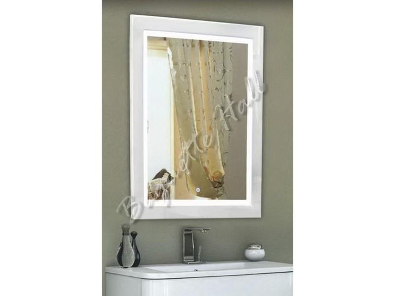 Зеркало для ванной комнаты с LED-подсветкой и сенсорным выключателем 600мм х 740мм