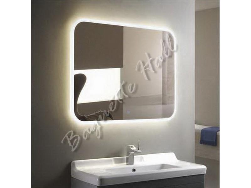 Зеркало для ванной комнаты с LED-подсветкой и сенсорным выключателем 920мм x 690мм