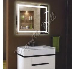 Зеркало с LED-подсветкой и сенсорным выключателем 800мм x 600мм