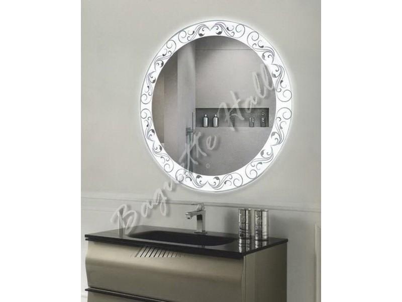 Зеркало для ванной комнаты с LED-подсветкой и сенсорным выключателем D770мм