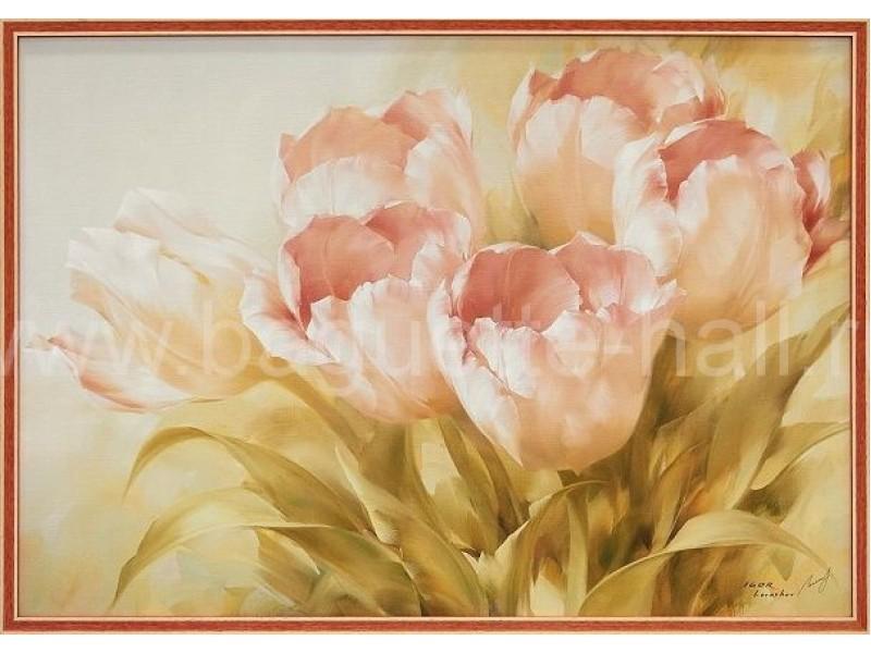 "Арт-постер ""Розовые тюльпаны"""