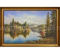"""Арт-постер """"Сибирское озеро"""""""