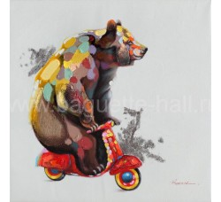 "Bubola e Naibo 80х80 ""Медведь на скутере"""
