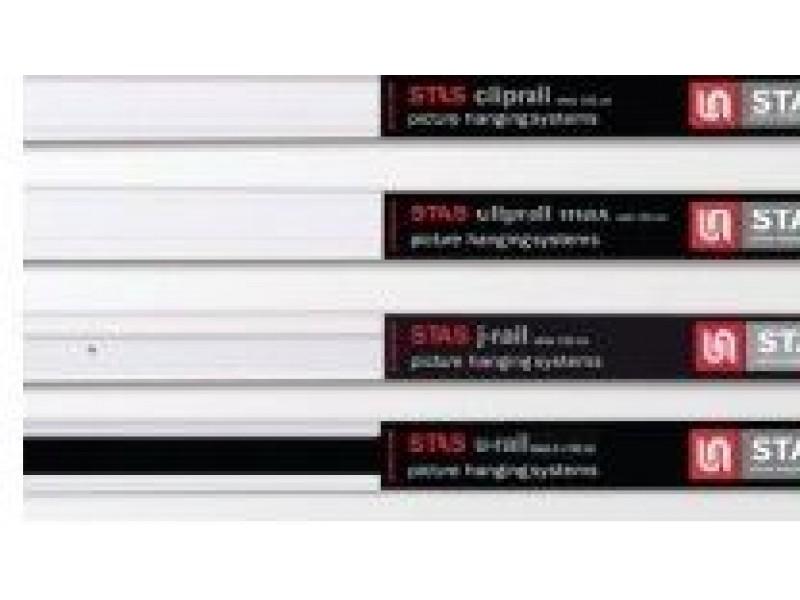 "Комплект со скрытым рельсом ""ClipRail Max"" белый 150 см 25кг/м"