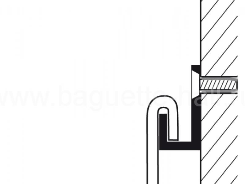 Стержень d3 мм с U-образным наконечником серебряный, 200 см