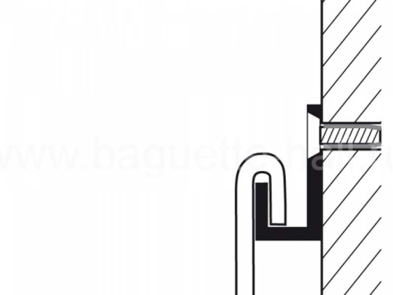 Стержень d3 мм с U-образным наконечником белый, 100 см