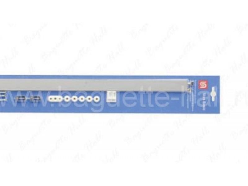 """Комплект со скрытым рельсом """"ClipRail"""" серебряный 150 см 20 кг/м"""