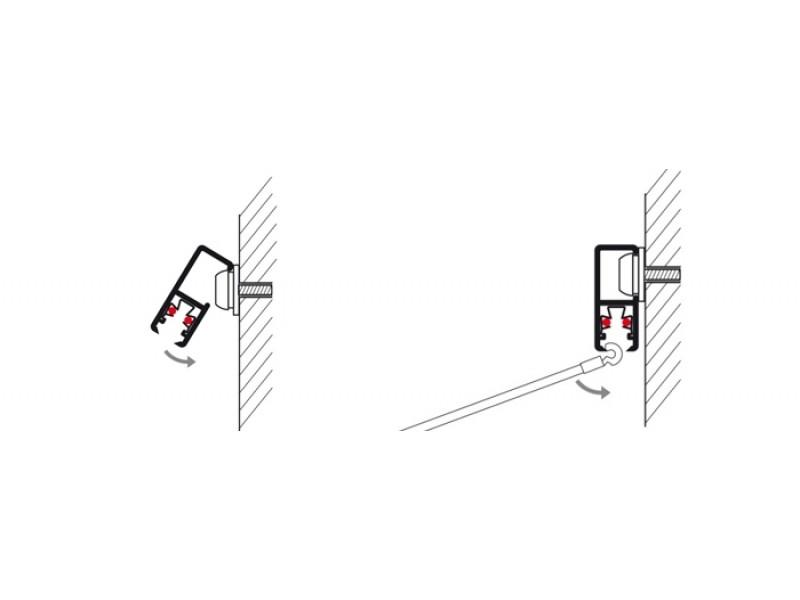 """Скрытый токопроводящий рельс """"Multirail"""" Серебряный 200 см, 45 кг/м"""