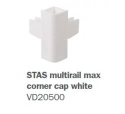 """Угловой соединитель для рельсов """"Multirail Max"""" Белый"""