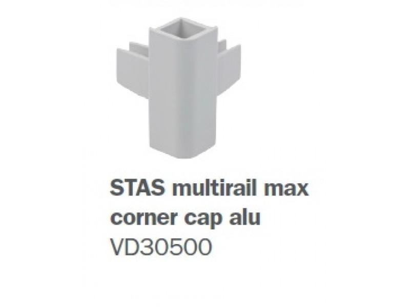 """Скрытый токопроводящий рельс """"Multirail Max"""" Серебряный 200 см, 45 кг/м"""