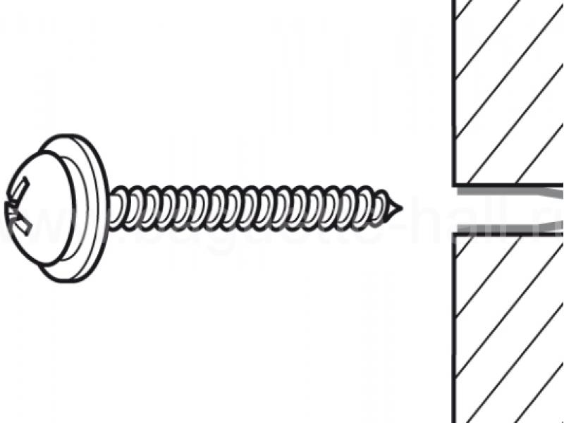 """Комплект со скрытым минирельсом """"MiniRail"""" серебряный 200 см 25кг/м"""