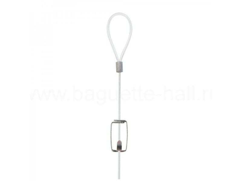 S-образная малая подвеска для лесок и шнуров с петлей серебряная