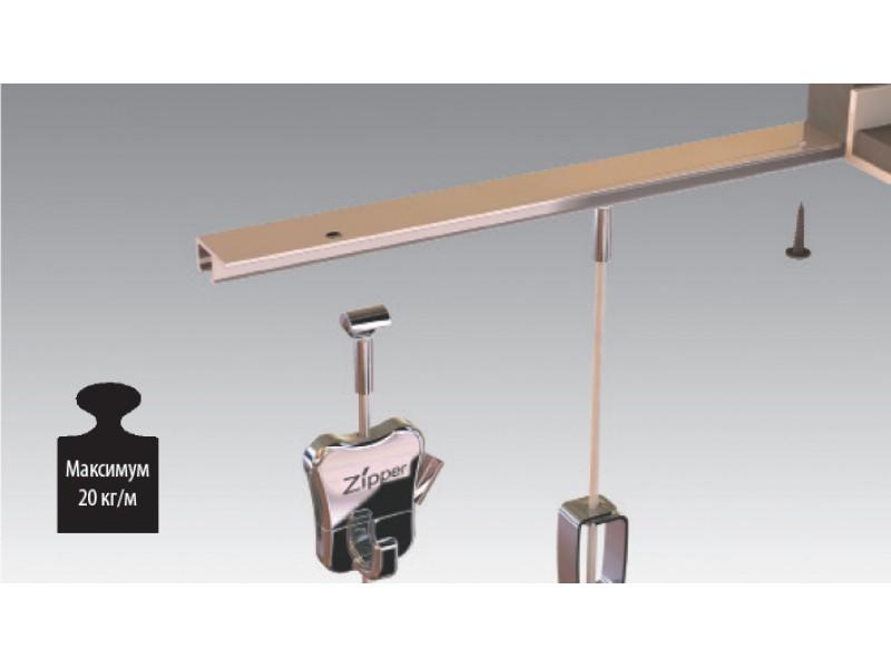 """U-образный потолочный рельс """"U-Rail"""", 20 кг/метр, Черный 200 см"""