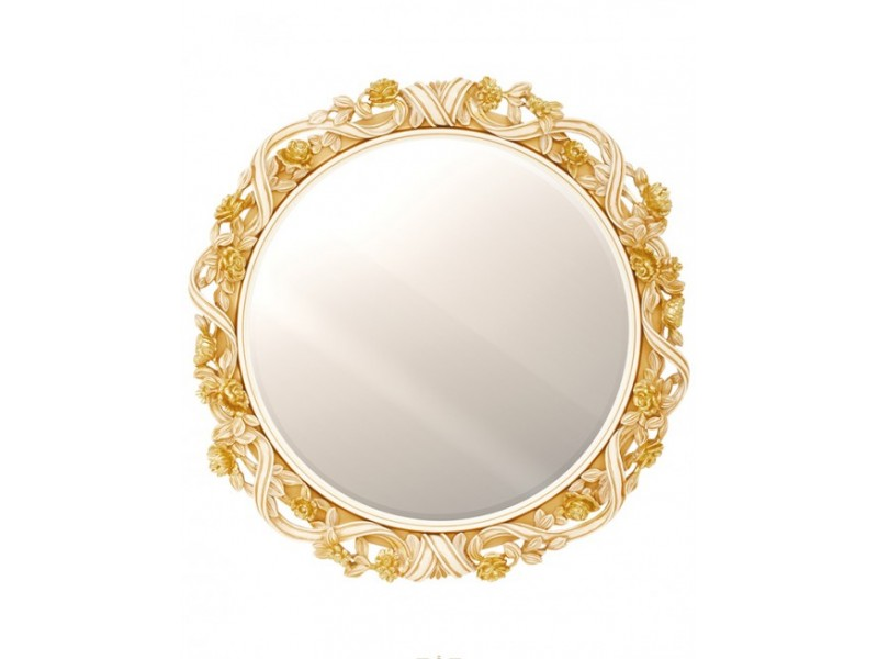 Круглое зеркало с цветами