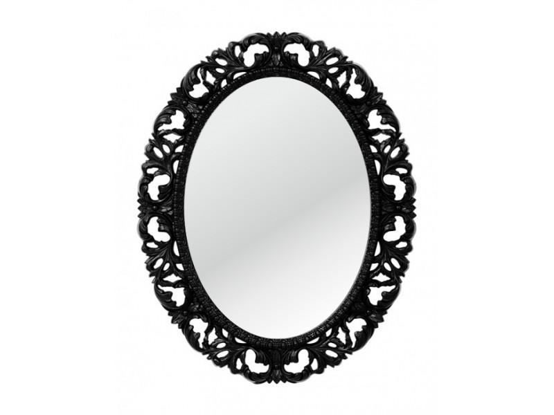 Овальное зеркало в барочном стиле, с широким орнаментом