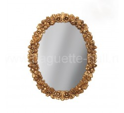 Овальное зеркало резной багет классика