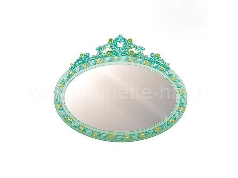 Зеркало овальное с бирюзовым кокошником