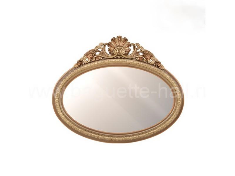 Зеркало овальное с кокошником бронза