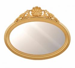Зеркало овальное с рамой кокошником