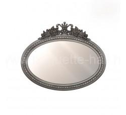 Зеркало овальное с темным багетом