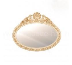 Зеркало овальное с золотым кокошником