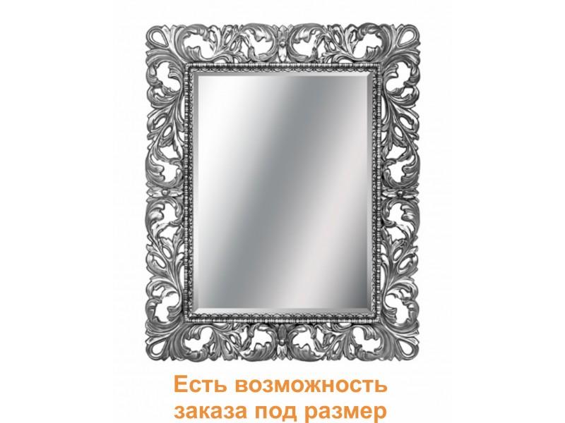 Зеркало прямоугольное в багете цвета хром