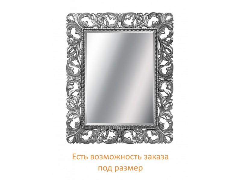 Зеркало прямоугольное в багете цвета хром с фацетом