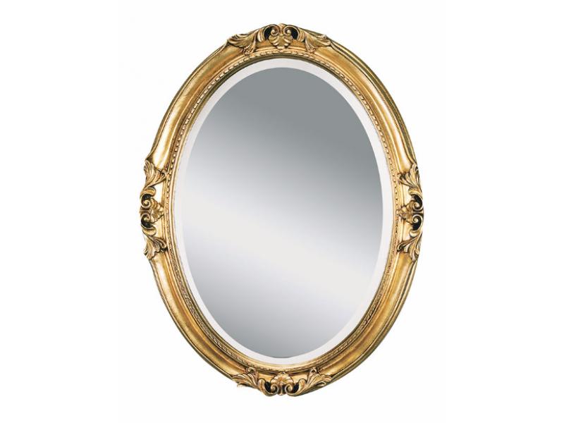 Зеркало в изящной утончённой раме в стиле Барокко с фацетом